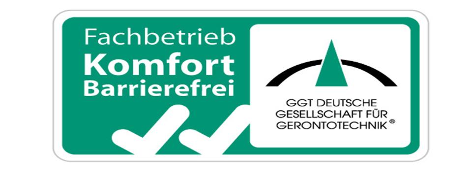 Firma Santel als Fachbetrieb KOMFORT Barrierefrei zertifiziert